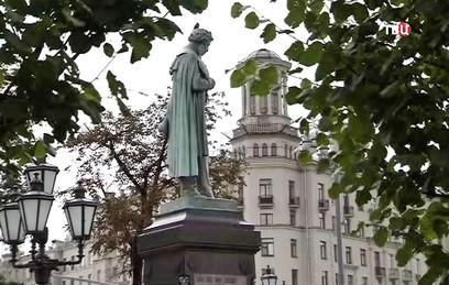 Реставрацию памятника Пушкину в Москве завершили ко Дню города