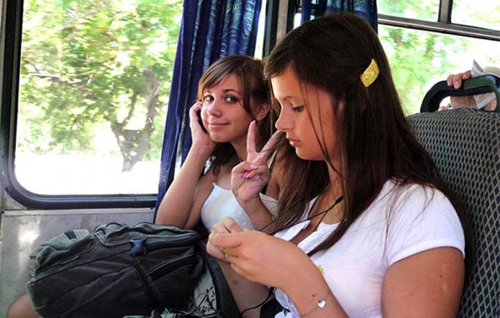 Автобусе случайное знакомство в
