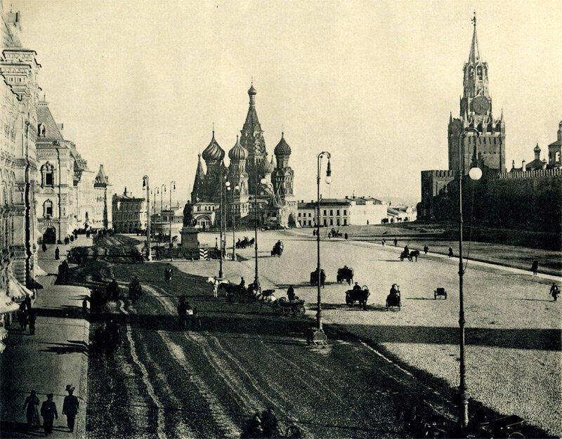 Красная площадь 19 век, жизнь до революции, редкие фотографии, снимки, фотографии, царская россия