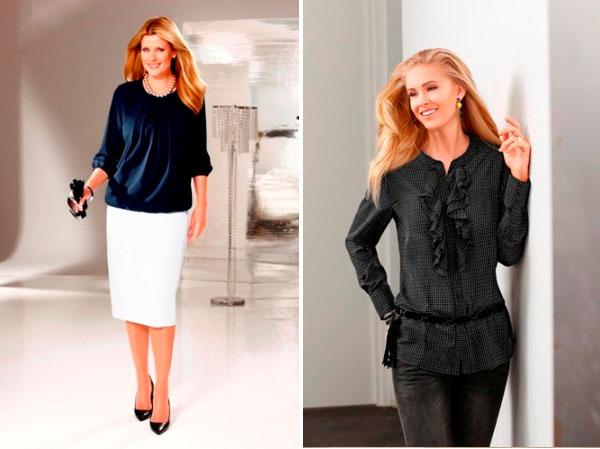 Модные тенденции для дам элегантного возраста 2017 — воланы, складки, рюши
