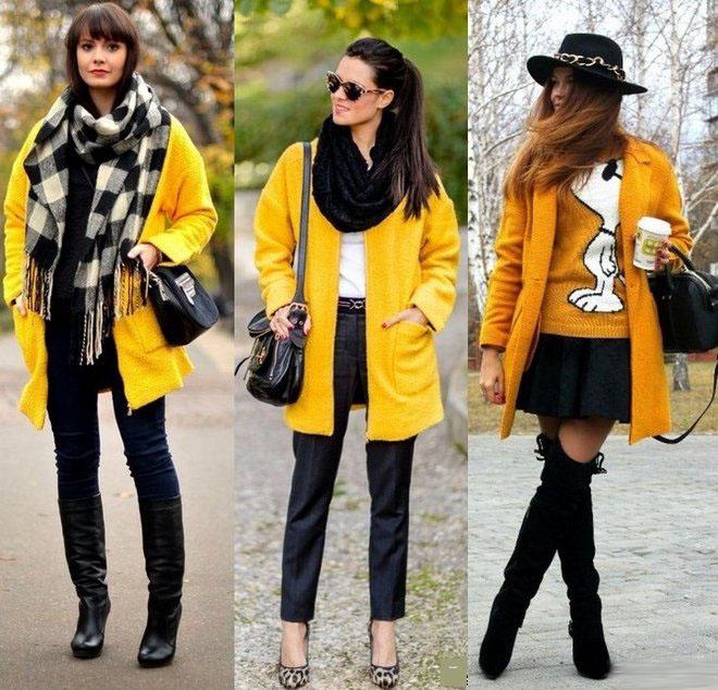 20 стильных образов: с чем носить желтый цвет этой осенью