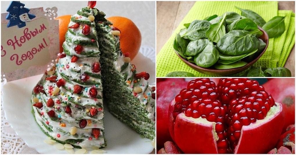 Съедобная елочка к новогоднему столу: нежный десерт на основе панкейков