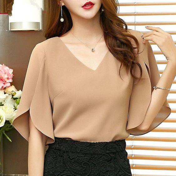 Элегантные блузы с красивыми рукавами 2