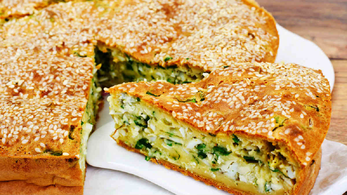 пирог с курицей и зеленым луком