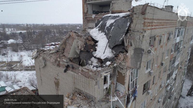 СК опубликовал видео с квадрокоптера дома в Шахтах, где произошел взрыв газа