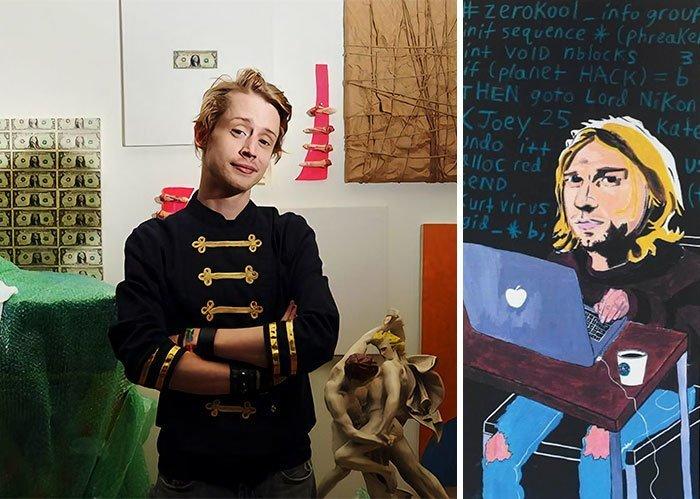 Маколей Калкин живопись, звезды, знаменитости, кино, многогранный талант, неожиданное увлечение, художники, эстрада