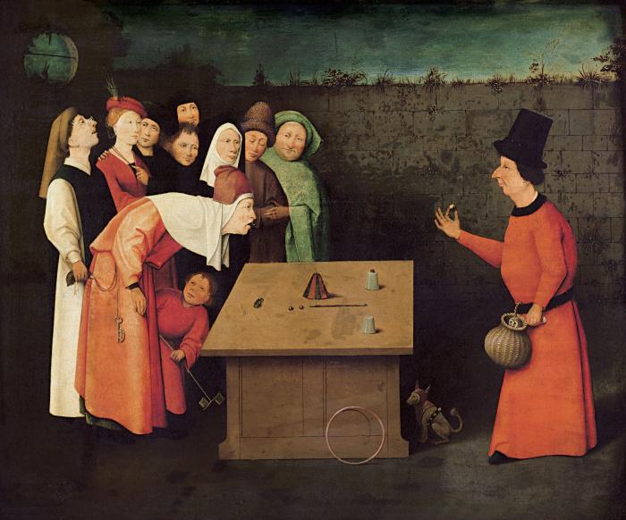 Человеческие пороки, скрытые в деталях картины Босха «Фокусник»