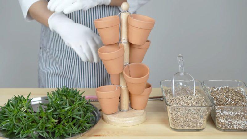 Гениальный мини-сад: впечатляющая идея размещения цветочных горшков интерьер,рукоделие,своими руками,сделай сам