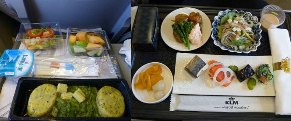 Как отличается еда пассажиров в бизнес-классе и эконом-классе в самолете