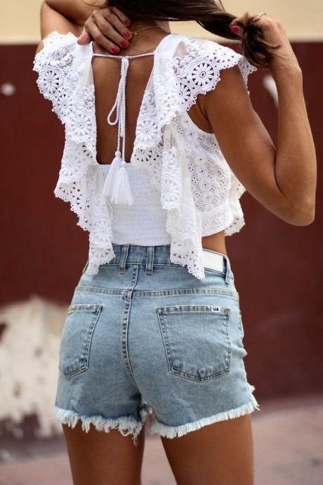 Кружевные белые блузы и топы: подборка идей на лето идеи и вдохновение,мода,одежда