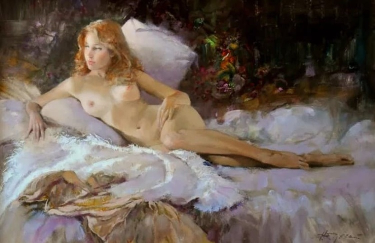 Художник Говард Роджерс. Лирический женский портрет