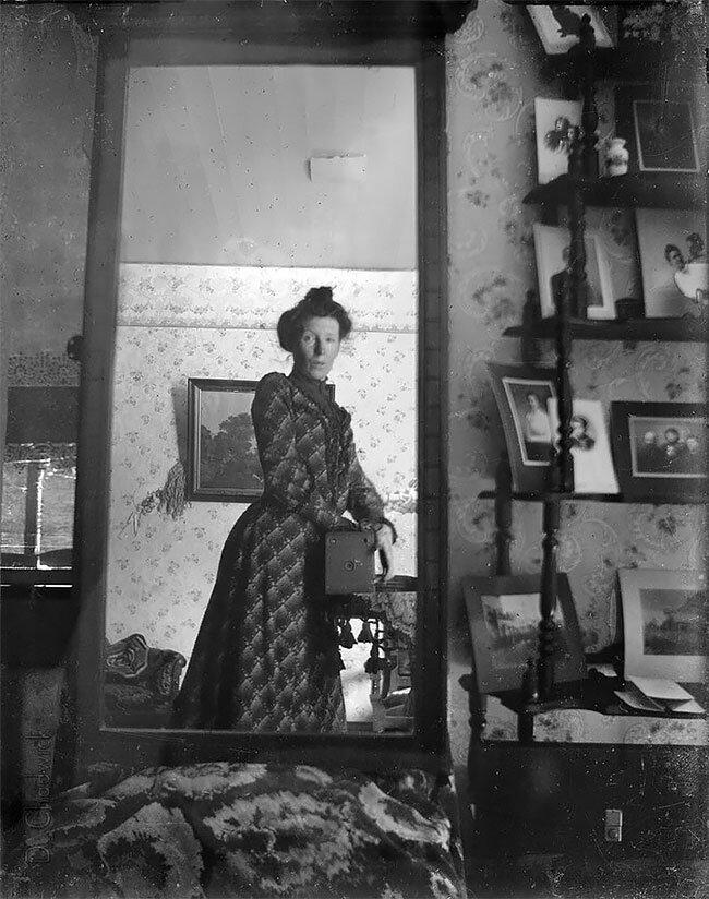 "16. Одно из первых ""селфи"", 1900-е винтаж, интересно, исторические кадры, исторические фото, история, ретро фото, старые фото, фото"
