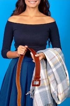 8 способов дополнить осенний образ с помощью шарфа. Французский узел просто супер