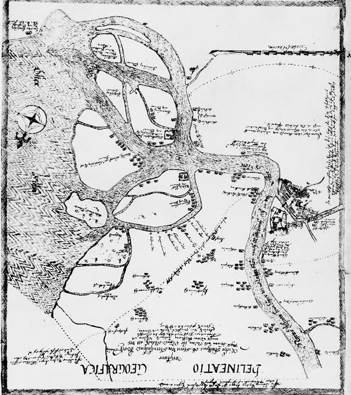 Карта Санкт-Петербурга до его основания