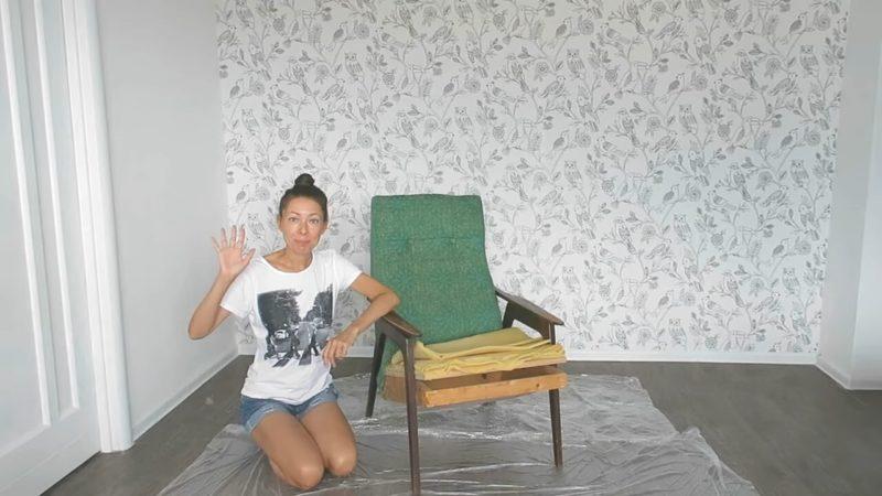 Креативная переделка старого кресла из СССР