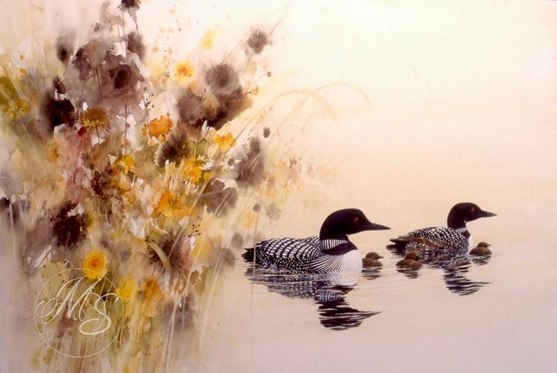 Природа художника-акварелиста Morten E. Solberg