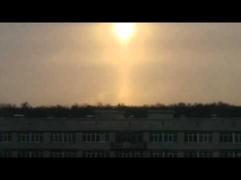 Над Санкт-Петербургом в небе появилось сразу три солнца