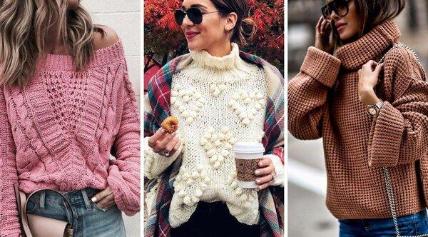 Модные свитера,джемперы и кофты 2019-2020: тренды, с чем носить, фото-подборка