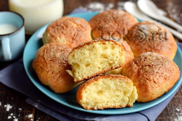 Творожные булочки «Пуховые» – без дрожжей, без долгого замеса, выпекаются за 20 минут сладкая выпечка
