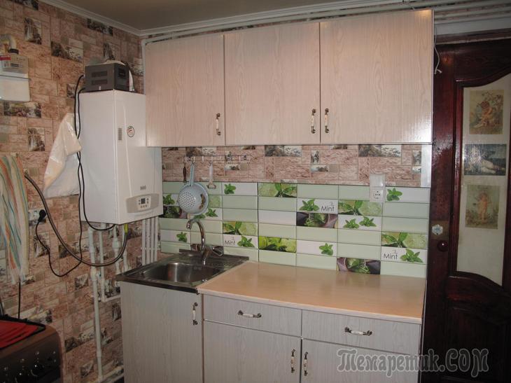 Реставрация кухонного гарнитура, для дачи. МК