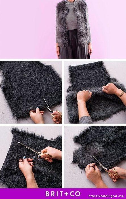 Что сделать из старой шубы одежда,переделки,своими руками