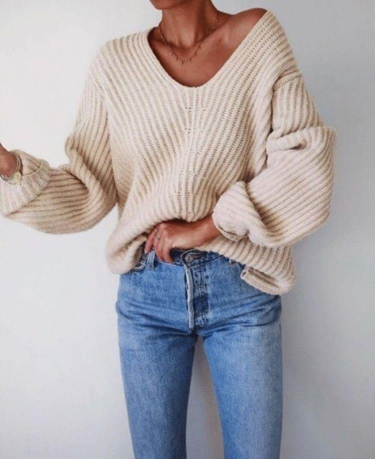 Как стильно сочетать джинсы и джемпер в 2019: 15 сногсшибательных образов для настоящих модниц женские хобби