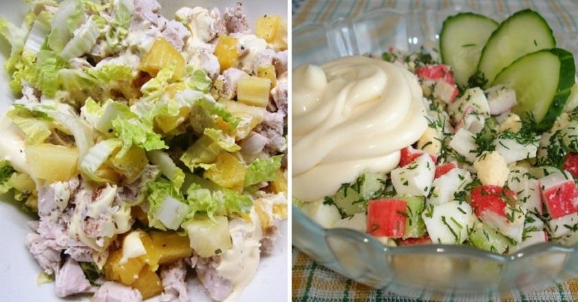Рецепты салатов с яблоком