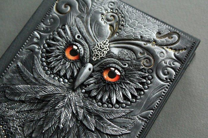 Волшебные обложки книг из полимерной глины