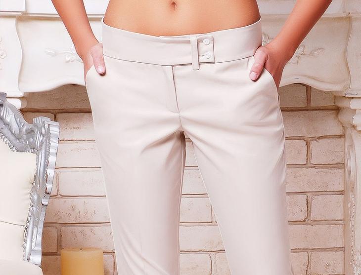 Фото готовых поясов на сшитых женских брюках, вариант 9