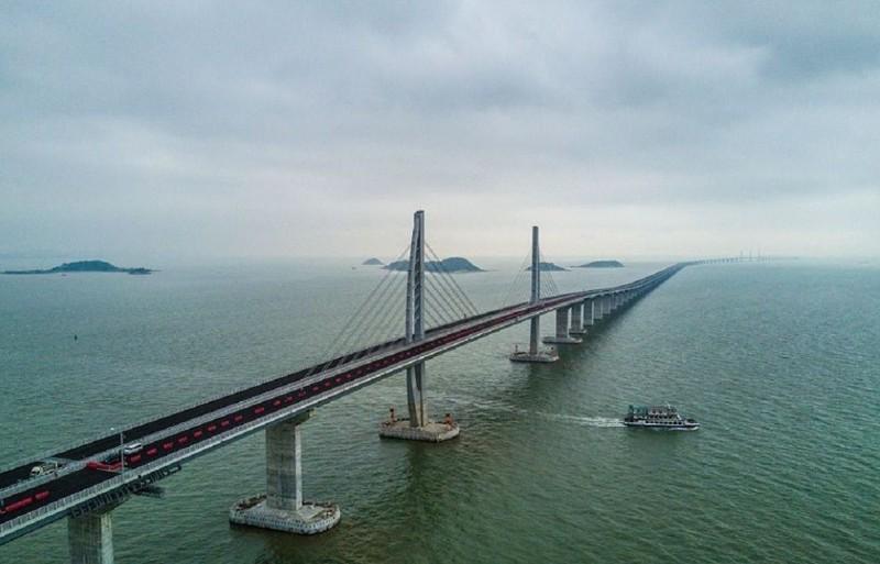 В Китае завершается строительство самого длинного в мире моста через море