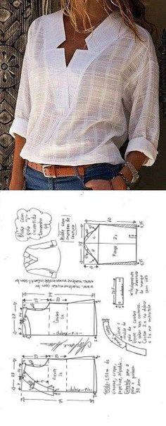 Замечательные выкройки блузок выкройка блузки,идеи,крой и литьё,Одежда,сделай сам