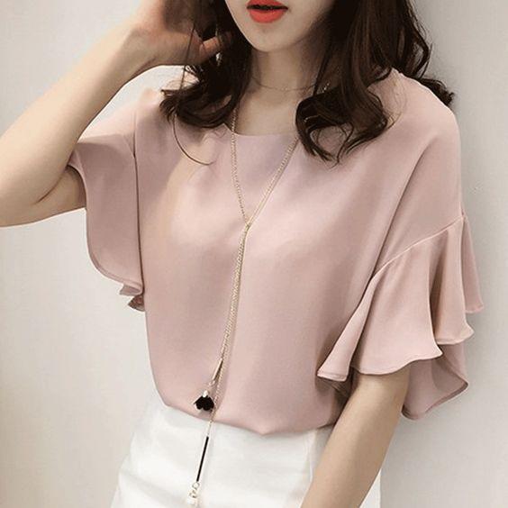 Элегантные блузы с красивыми рукавами 1