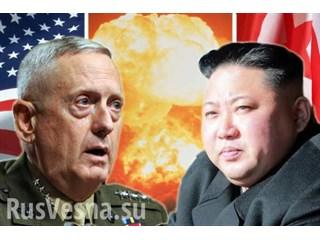 Министр обороны США призвал войска быть готовыми к войне с КНДР