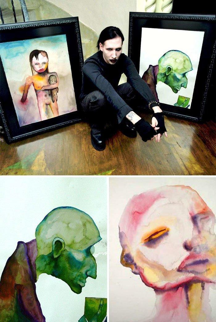 Мэрилин Мэнсон живопись, звезды, знаменитости, кино, многогранный талант, неожиданное увлечение, художники, эстрада