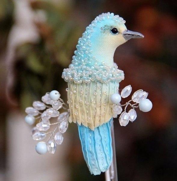 Волшебные брошки в виде птиц: идеи