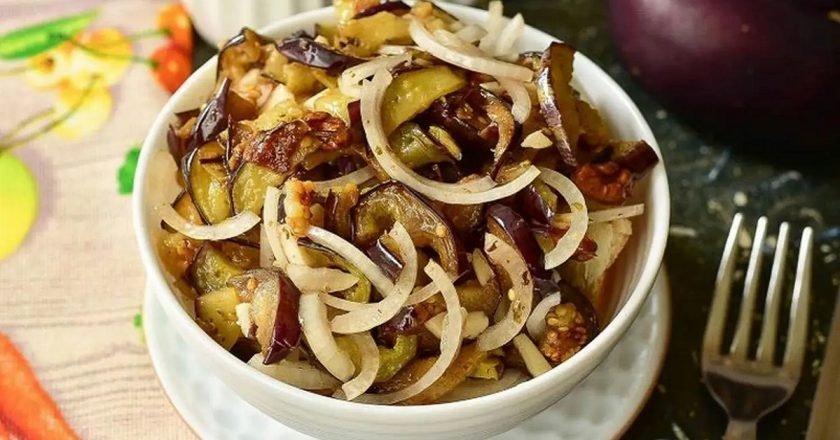 Ацецили из баклажанов по-грузински закуски,кухни мира,овощные блюда