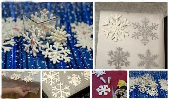 Сладкие снежинки - безе