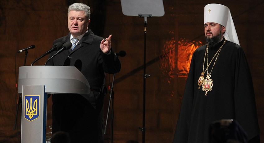 Порошенко: верующие выберут между Россией и Украиной