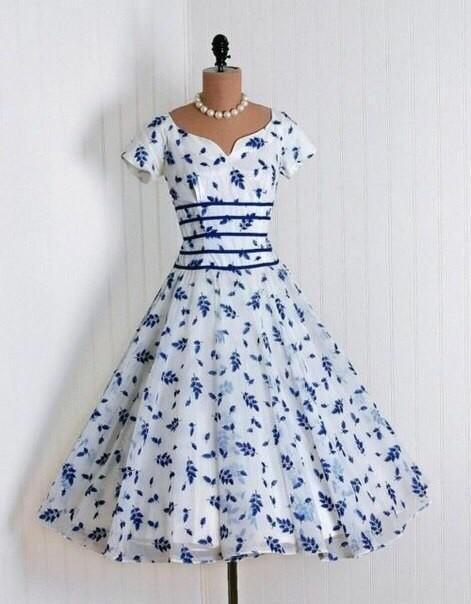 Женственные  и нежные винтажные платья