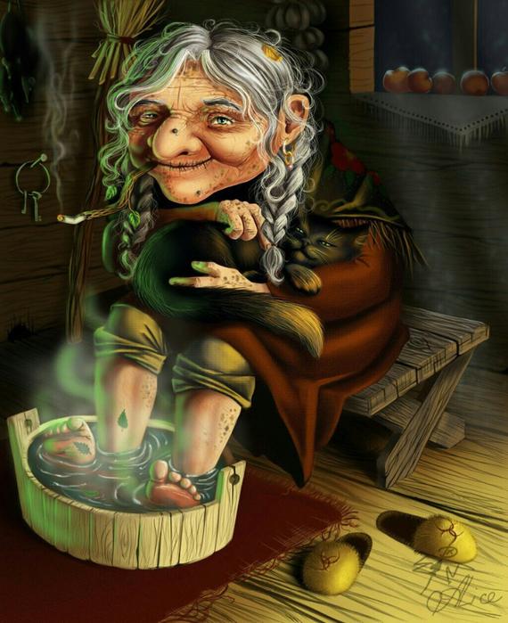 Картинки бабы яги смешные