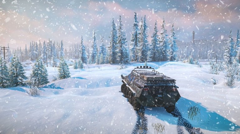 На грузовиках по снегу с друзьями! Симулятор бездорожья SnowRunner выйдет в апреле