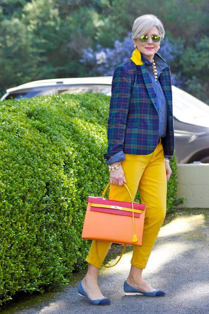 мода для стройных женщин за 50