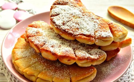 Сладкие дрожжевые булочки, приготовленные на сковороде