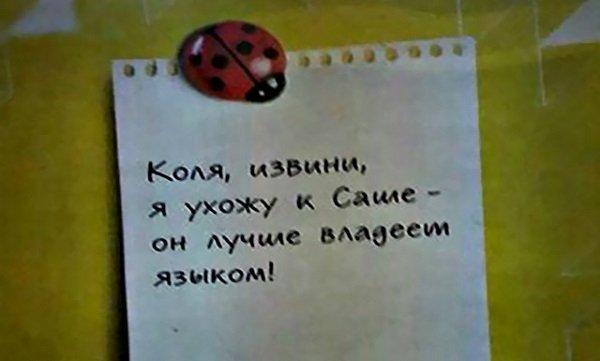 12 смешных записок на холодильниках
