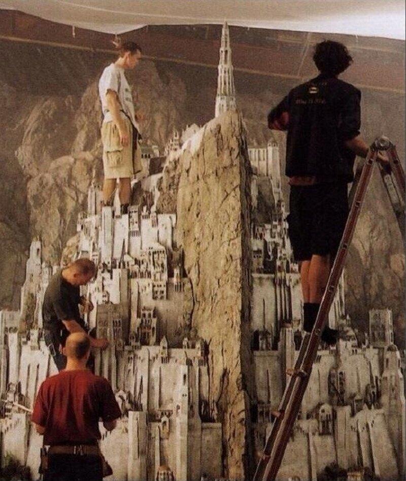 Миниатюры и модели, созданные для съемок известных фильмов интересно, кино, киносъемки