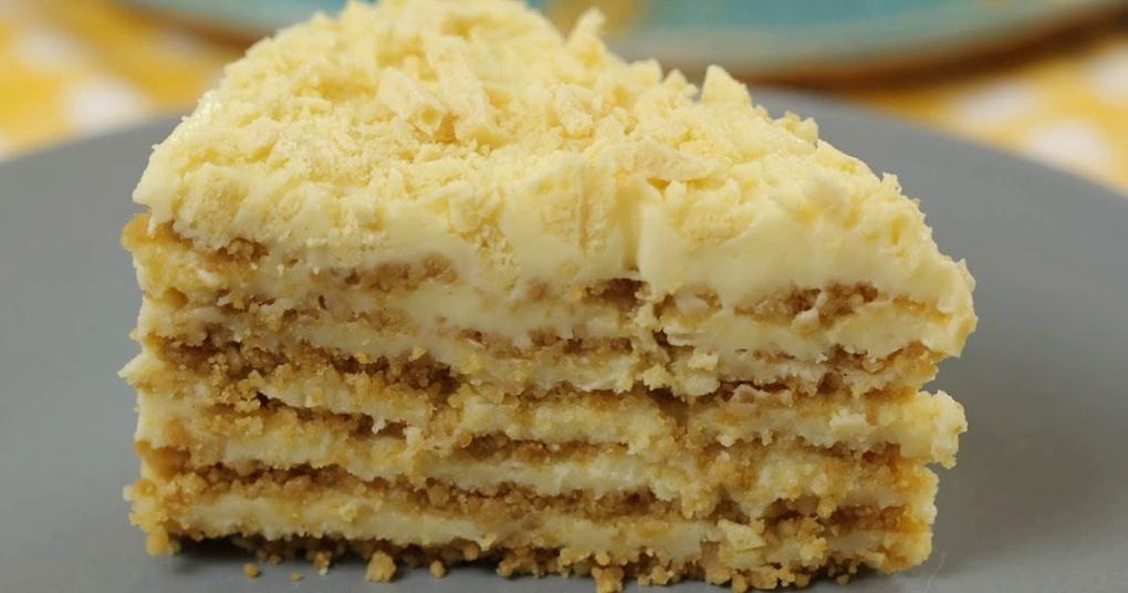 Потрясающий пломбирный торт без выпечки и печенья