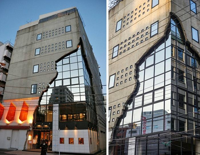Креативный дизайн здания Ebisu East Art Gallery (Токио).