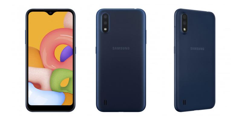 Samsung Galaxy A01 — смартфон начального уровня без лишних наворотов