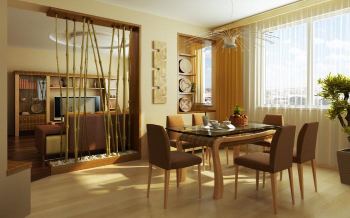 Зонирование пространства в двухкомнатной квартире.