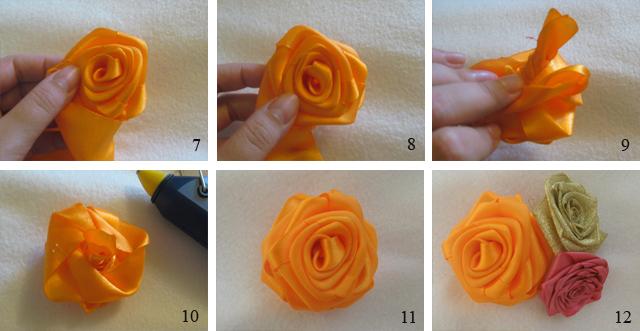 Роза из цельной ленты своими руками
